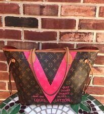 SALE * LOUIS VUITTON Monogram Neverfull MM V Grenardo Pink Handbag Tote RARE!