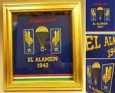 Quadro storico ricamo a mano canottiglia EL ALAMEIN 1942 - PARACADUTISTI FOLGORE