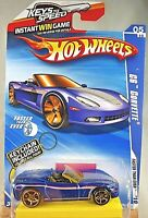 2010 Hot Wheels #131 Faster Than Ever 5/10 CORVETTE C6 Blue w/FTE Sp w/Keychain