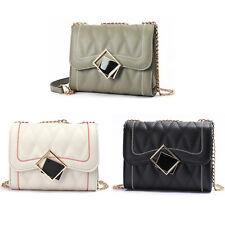 Small Women Chain Satchel Purse Quilted Box Handbag Shoulder Crossbody Bag New