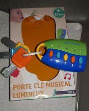 Porte clé musical lumineux bébé 12 M+