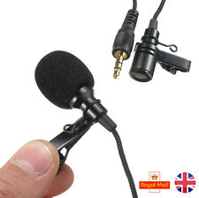 3.5mm Lavalier NEW Clip Micro Mini Mic Microphone Mobile Phone PC Recording 2.4m