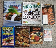 Lot of 6 Barbecue Cookout Recipe Cookbooks and 1 Phamphlet BBQ