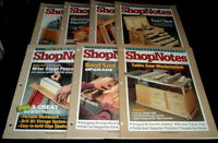 LOT OF 7 SHOPNOTES WOODWORKING MAGAZINE ~ #46, 47, 48, 49, 50, 51, 53 ~ FREE S/H