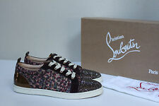 New sz 7.5 / 38 Christian Louboutin Gondola Strass Low Top lace up Sneaker Shoes