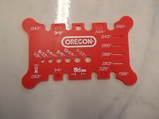 Oregon OCS556418 chainsaw chain tool checks Pitch and Gauge on bar and file size