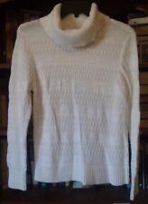 Christopher & Banks white sweater size Medium Petite, cowl neck -394