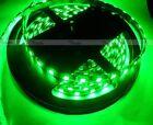 Green Waterproof 5M 300 Leds 5050 SMD LED Flexible Strip Light 12V DC Black PCB