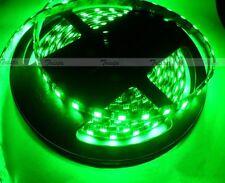 New listing Green Waterproof 5M 300 Leds 5050 Smd Led Flexible Strip Light 12V Dc Black Pcb