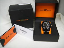 Glam Rock G ROCK Florida Beach Black & Rose Gold Watch