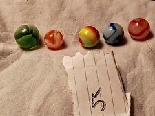 vintage marbles lot of 5