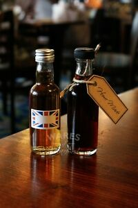 Mini Whisky Glass Bottles, 50ml, Silver Caps, Pack 36, Wedding Favours, New *
