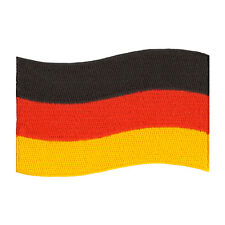 """VEGASBEE® GERMANY FLAG GERMAN EMBROIDERED IRON-ON PATCH SIZE 3"""" JACKET JEANS BAG"""