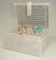 Angel Worry Box w/3 Spun Glass Angels (Glory Land Corporation UPC 6-00509-8203)
