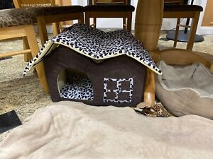 Pet Extra Small Dog House Kennel Soft Warm Cave Bed Indoor, Removable Top