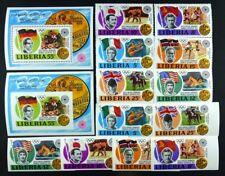 Olympiade Olympics 1972 Liberia 1973 Sieger 855-860 Block 64 A/B Postfrisch / 3