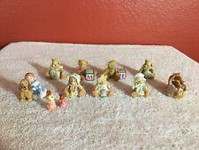 Vintage Lot of 7 Enesco Priscilla Hillman Bear Figurines Plus 4 Other Figurines