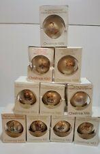 Vintage Lot of 10 (1980-1989) Berta Hummel Schmid glass Christmas ornaments