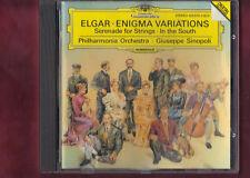 ELGAR-ENIGMA VARIAT.OP.36,SERENATA OP.20,CONC.OVERTURE OP.50 SINOPOLI CD APERTO