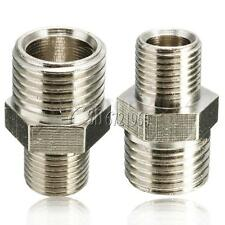 Silver 1/4'' Male to 1/8'' Male Airbrush Hose Adaptor BSP Fitting Connector