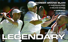 Andre Agassi LEGENDARY Tennis Action Historic Career Commemorative Wall POSTER