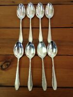 "Lot of 8 Vintage Silverplate Bruckmann 90 Spoons Antique Flatware Set 8.5"""