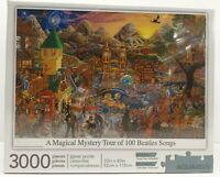 "A Magical Mystery Tour Of 100 Beatles Songs 3000 Pcs Puzzle 32x45"" Aquarius 2010"