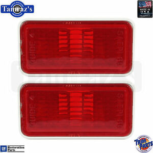 68-69 for GM Rear Red Side Marker Light / Lamp Lens Housing Made in USA PAIR