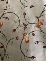 "Drape Curtain Custom Made Pleated Drapes 2 pc 50""X 102 Tan Brocade Dupioni Silk"