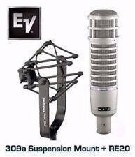 EV Electrovoice RE20 Studio Mic w. 309A Shockmount - Questions? 877-640-8205