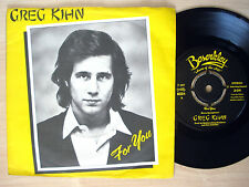 "Greg Kihn For You A1 B1 UK 7"" Bruce Springsteen Beserkley ‎BZZ4 1977 NM"