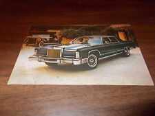 1979 Lincoln Continental Collector Series Original Advertising Postcard