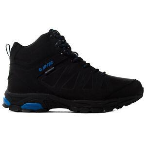 Hi-Tec Raven Mid Mens Outdoor Waterproof Walking Hiking Boot Shoe Black
