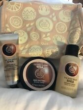 Body Shop Shea Travel Gift Set. 3 Items In Toiletry Bag. New