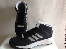 Adidas Cloudfoam Ilation Mid Basketball Shoes Black Silver White Mens Sz 6 1/2