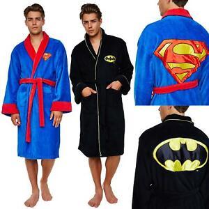 Adults Mens/Womens DC Comics Batman/Superman Fleece Bathrobe Dressing Gown