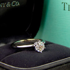 Tiffany & Co .72 ct Diamond Solitaire Engagement Ring Platinum Size 5 3/4 #A1360