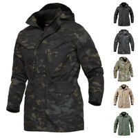 Tactical Waterproof Mens M65 Field Jacket Military US Army Jackets Coats Hooded