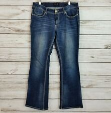 7 For All Mankind Womens Denim Jeans Size 12 Blue Stretch Boot Cut Pants