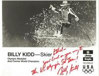 Billy Kidd Signed 8x10 Photo 1992 Olympic