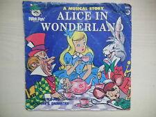 ALICE IN WONDERLAND Peter Pan Records 45 RPM