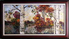 "Maya Eventov ""Foliage of Fall"" Original Acrylic on Canvas, H.Signed ME012209-12"