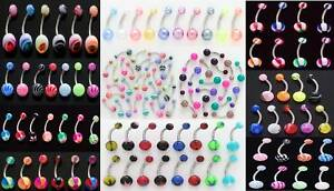 *100* WHOLESALE Belly Naval Rings Body Jewelry Piercings All Different Lot 14g