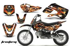 Decal Graphic Kit Wrap For Kawasaki KLX 110 2002-2009 KX 65 2002-2018 FIRESTORM