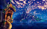 Disney Tangled Rapunzel Dreams Home Decor Canvas Print, choose your size.