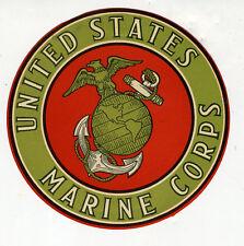 1940s United States Marine Corps Sticker w/ Logo