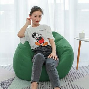 Lazy Sofa Cover Solid Furniture Covers without Filler/Inner Bean Bag Pouf Seat