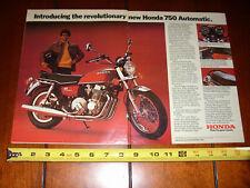 1976 HONDA CB750 AUTOMATIC - ORIGINAL 2 PAGE AD