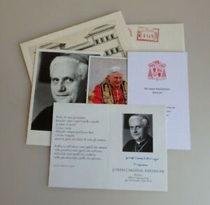 Autogramm Joseph Kardinal Ratzinger Papst Benedikt XVI (73204)