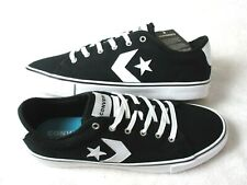 Converse Mens Star Replay OX Black White Classic Canvas Shoes Size 10 163214F